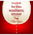 Christmas card with a beard Santa Claus EPS 10 vector image