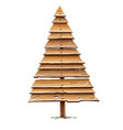 christmas tree for holiday vector image