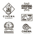 cinema labels set vector image