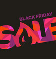 color word sale with triangles black friday sale vector image