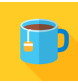 Colorful cup of tea icon in modern flat style with vector image vector image