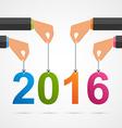 Creative happy New Year design vector image vector image