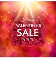 Dynamic Happy Valentines Sale design vector image vector image