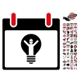 Electrician Calendar Day Flat Icon With vector image vector image