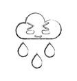 figure kawaii nice funny cloud raining vector image vector image