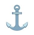 flat outline sea icon anchor vector image