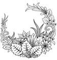 floral doodle zentangl vector image vector image