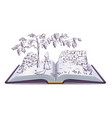 fox and grapes open book fable vector image vector image