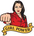 girl power design - girl punchinggirl power design vector image vector image