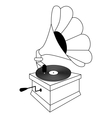 Gramophone vector image vector image