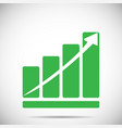 growth chart with arrow vector image
