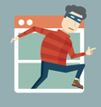 Hacking personal information vector image