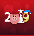 happy new year or christmas background with snow vector image vector image