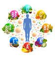 healthy good and vitamin nutrition vector image vector image