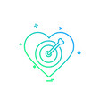 hearts icon design vector image