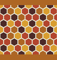 hexagon seamless pattern retro style backdrop vector image
