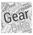 How Mountain Bike Gears Work Word Cloud Concept vector image vector image
