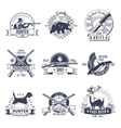 Hunting Vintage Style Emblems vector image vector image