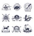 Hunting Vintage Style Emblems vector image