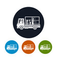 icons small truck transports windows vector image vector image