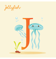 J for jellyfish vector image vector image