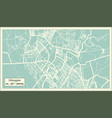 lilongwe malawi city map in retro style outline vector image vector image