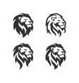 lion head logo design template vector image vector image