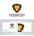 lion media logo design vector image vector image