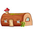 log house on white background vector image vector image