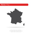 map france isolated black on vector image vector image
