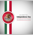 mexico independence day design vector image