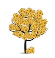 modern cheese tree on white vector image vector image