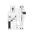 modern medicine concept robot wearing white vector image vector image
