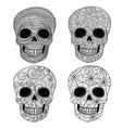 Ornament skull set vector | Price: 1 Credit (USD $1)