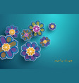 paper craft islamic geometric flowers decoration vector image vector image