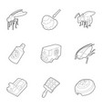 pest icons set outline style vector image vector image