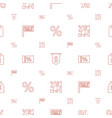 price icons pattern seamless white background vector image vector image
