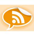 RSS symbol vector image