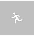 Running computer symbol vector image vector image