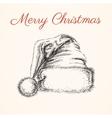 santa hat isolated hand drawn illustration vector image vector image