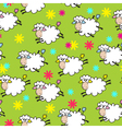 seamless background with sheep vector image