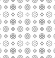 Seamless pattern ornament Cross and medicine vector image vector image