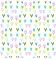 Seamless watercolor heart pattern on a white vector image