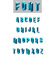 Set of isometric glass font vector image vector image
