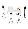 set of professional photo studio equipment vector image