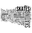 skating word cloud concept vector image vector image