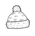 sketch of santa hat vector image vector image