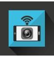 smartphone music internet wifi icon vector image vector image