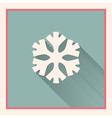 snowflake symbol vector image vector image