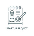 startup project line icon linear concept vector image vector image